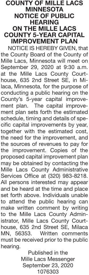 September 29 PH-Capital Improvement Plan