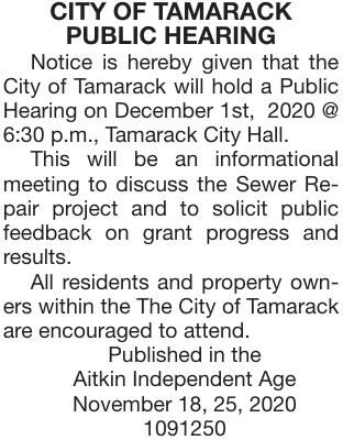 December 1 PH Sewer Repair Project