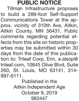 310th Ave Aitkin Tower