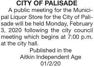 Municipal Liquor Store mtg Feb 3, 2020