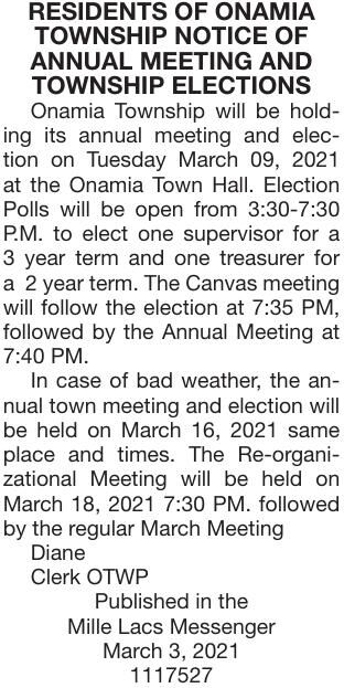 Annual Mtg & Elections