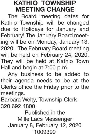 Board Meeting Date Changes