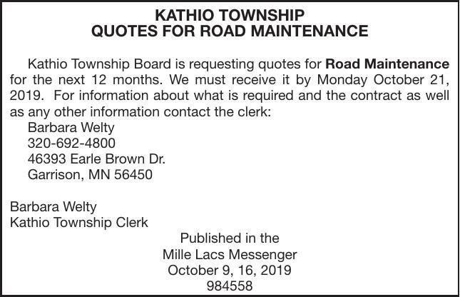Road Maintenance Quotes