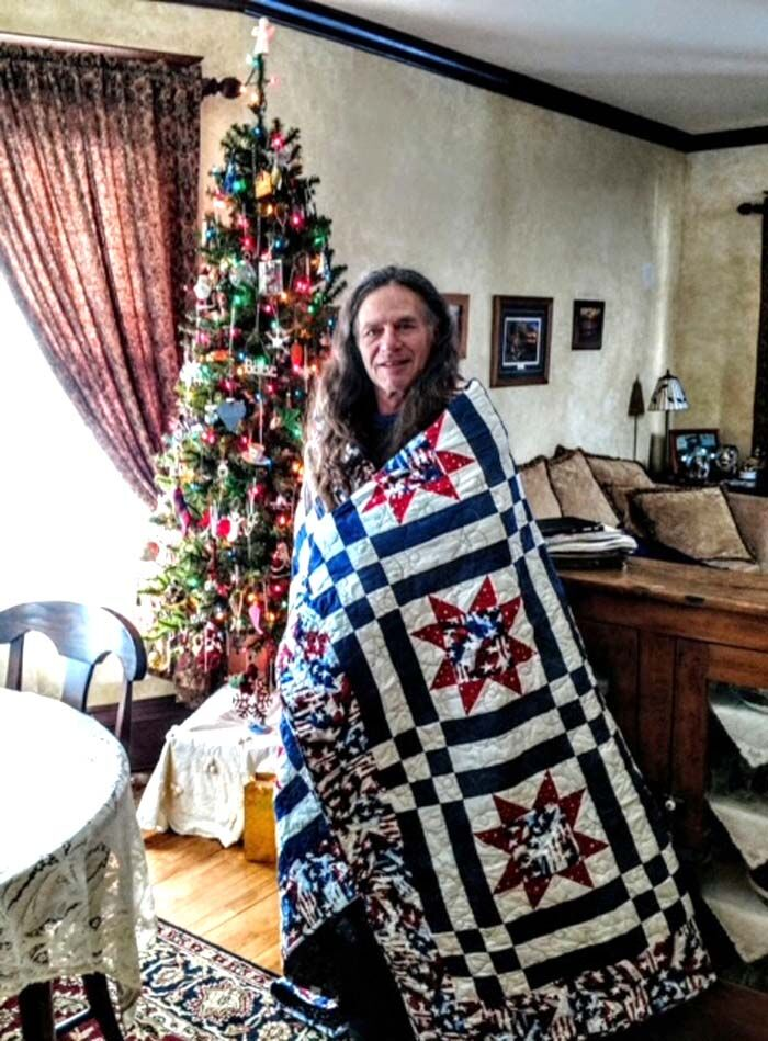 Fisher awarded Quilt of Valor