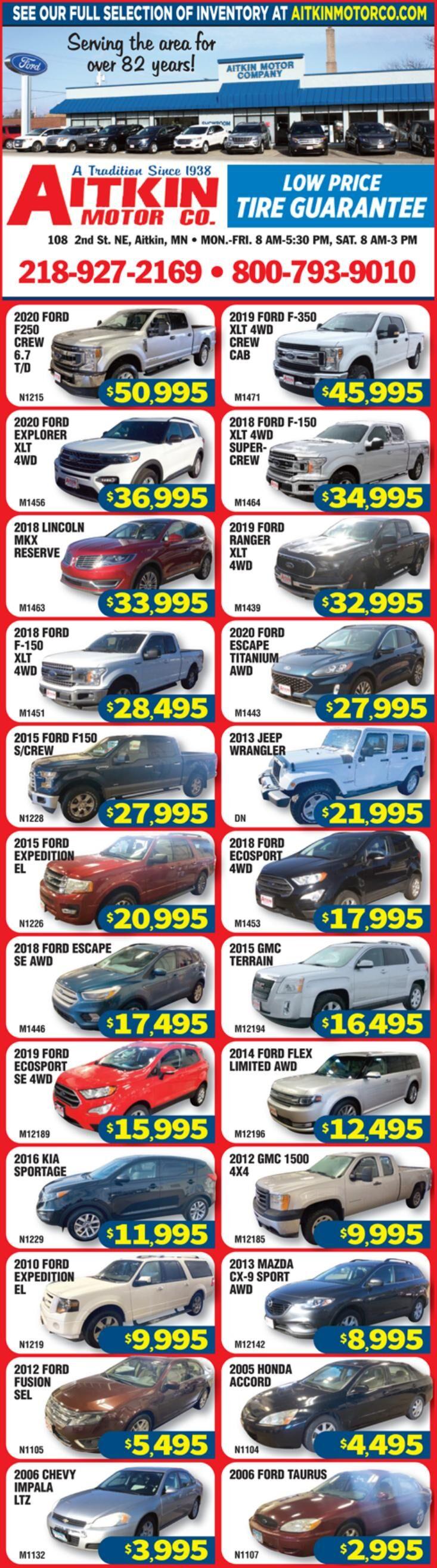 Aitkin Motors 3-6-2021