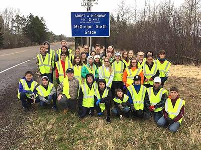 McGregor sixth graders adopt a highway