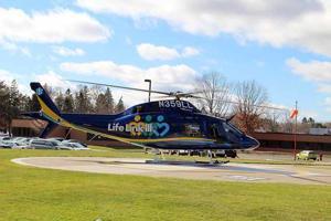 AgustaWestland AW119Kx at the heli-landing pad at Cuyuna Regional Medical Center in Crosby