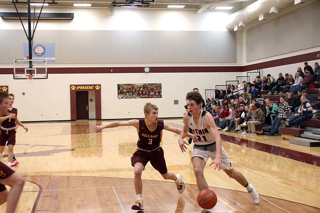 Owen Hagen led the Gobblers with 19 points in overtime loss at Pillager, Feb. 4.