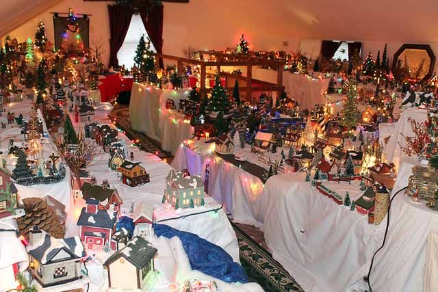 not many people devote an entire story of their home to a christmas village display - A Christmas Story Village