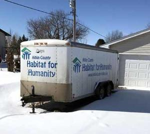 Habitat's job trailer will be embellished with donors' names and logos.