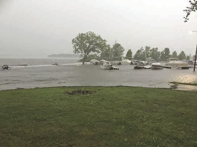Mille Lacs Island Resort during Sunday's storm