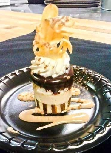 "Shaw's prize-winning ""Tiramisu Eruption."""