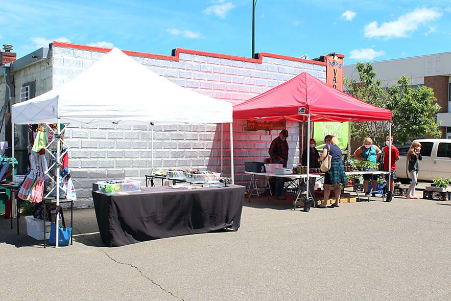 Vendors and visitors enjoyed great weather at the June 13 farmers market in Aitkin.