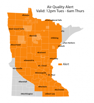 Air quality alert: Tuesday, July 20 – Thursday, July 22