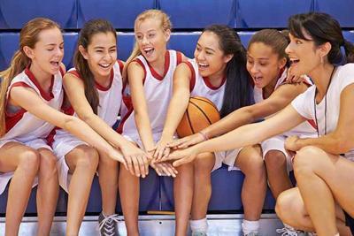 Girl athletes