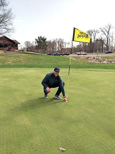 Hole-in-one on opening day