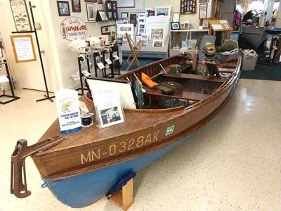 Wooden boat display at the fishing museum