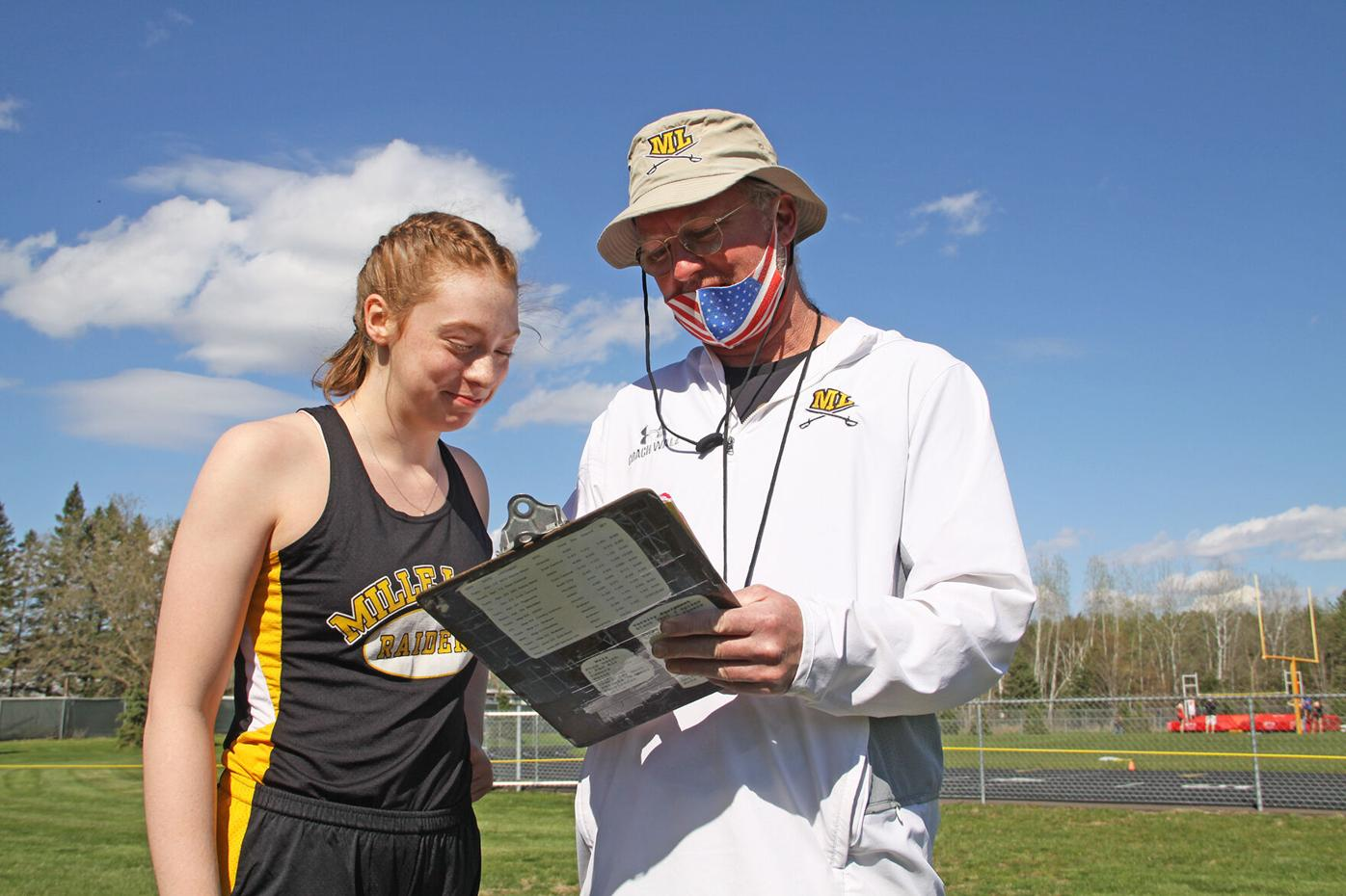 Kailee Barnett  and coach Jeff Walz