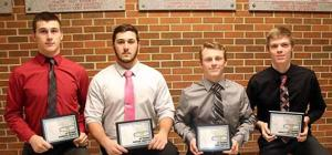 Andrew Eklund, Austin Trotter, Quin Miller and Garrett Westerlund earned All District honors at the awards ceremony last Sunday night.