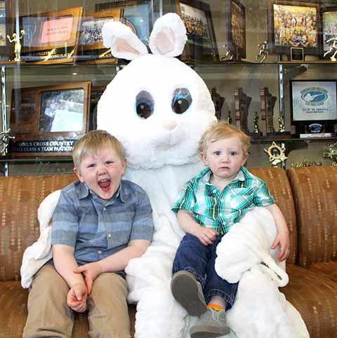 Onamia Easter Bunny - Luke and Owen Porter