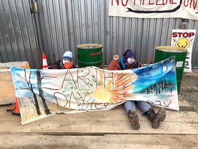 Protesters make 'stand' for Earth Day