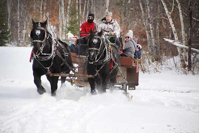 Hillman sleigh ride