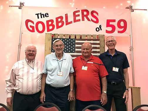 Class of 59: Jim Call, Alvin Buss, J.J. Sullivan and Art Doten.