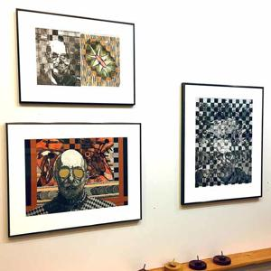 George Robinson's imaglio display at the Ripple River Gallery.