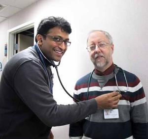 Dr. Chandra Cherukuri and Dr. Bracken
