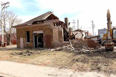 Demolition of the creamery building