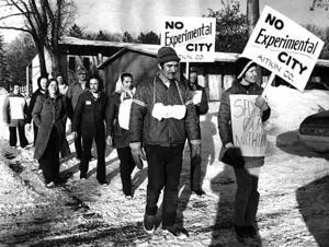 In 1973, 10 residents of the Swatara area walked through Anoka on their 170-mile trek to the state capitol.