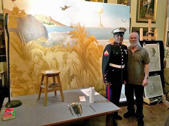 Quintin Sam and artist Charles Kapsner