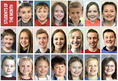 Students of the month - 3-31-2021