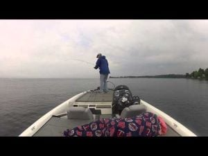 Mille Lacs Smallie on the Drop-Shot!