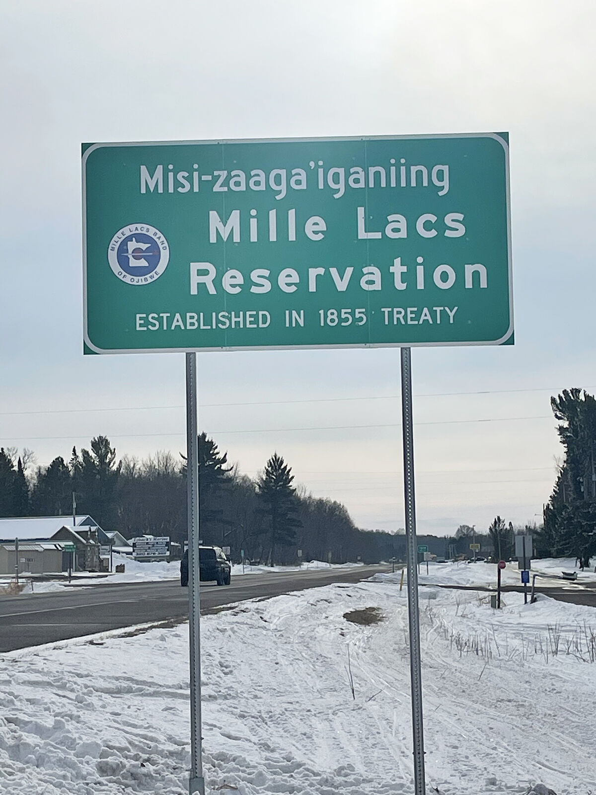 Reservation sign on Hwy. 47
