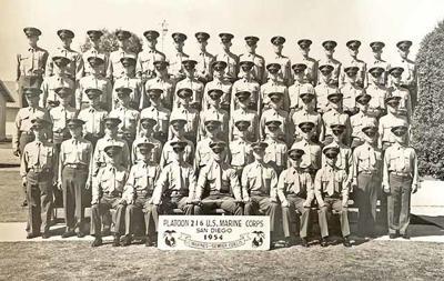 Platoon 216 U.S. Marine Corps,  San Diego, Calif., 1954