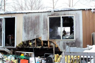 The home of Vicki Olson was heavily damaged by a Feb. 18 fire