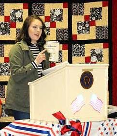 veterans day essay winners message media education aitkin junior ashlee kearney her essay at the veterans day service at the aitkin american