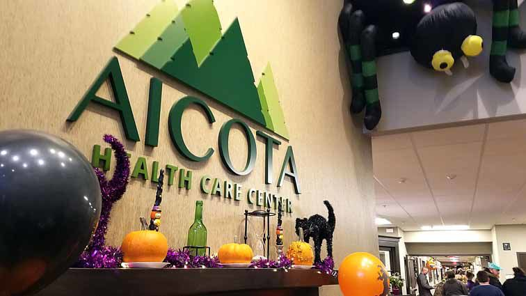 Aicota Health Care residents handed out treats to all the little girls and boys