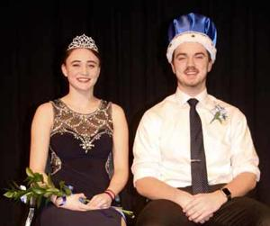 Snodaze Queen Courtney Conner and King Tucker Schwartz.