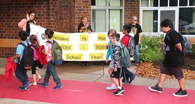Onamia schools - first day - red carpet