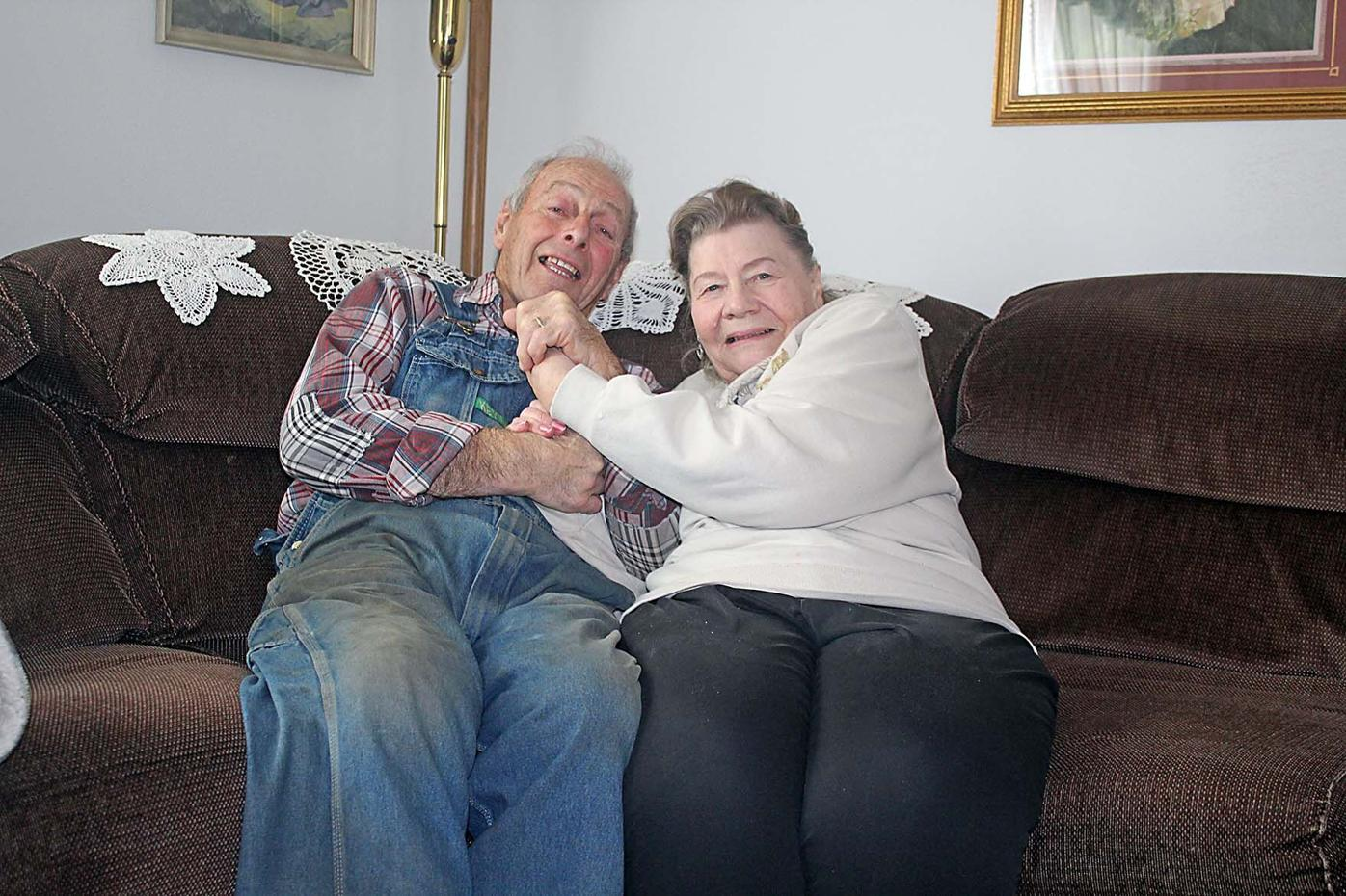 Wally and Carole Tramm at their home in Isle.