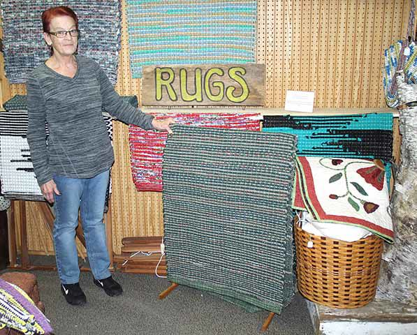 Terry Sandin - rug display
