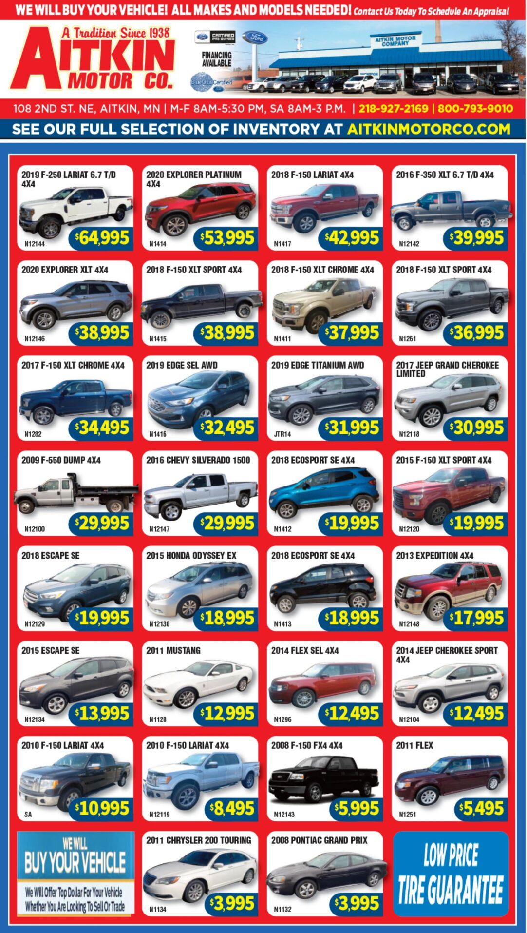 Aitkin Motors 10-2-21