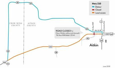 A detour on Hwy. 210 will begin on Wednesday, June 5.