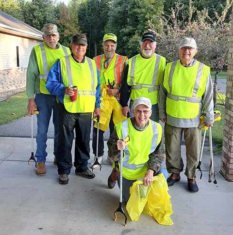 Light of the Cross Church - road clean up