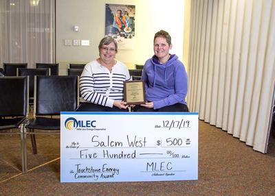 Salem West named MLEC 2019 Touchstone Community Award winner