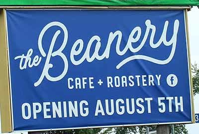 The Beanery sign