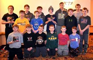 Aitkin wrestlers in Wisconsin