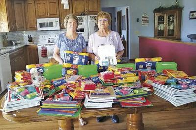 Hillman Legion donates school supplies